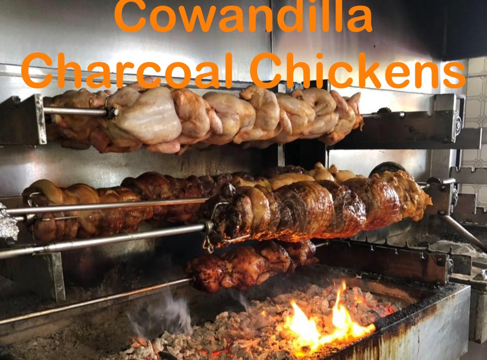 Cowandilla Charcoal Chickens-text